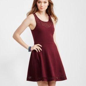 Aeropostale Sleeveless Lace Skater Dress